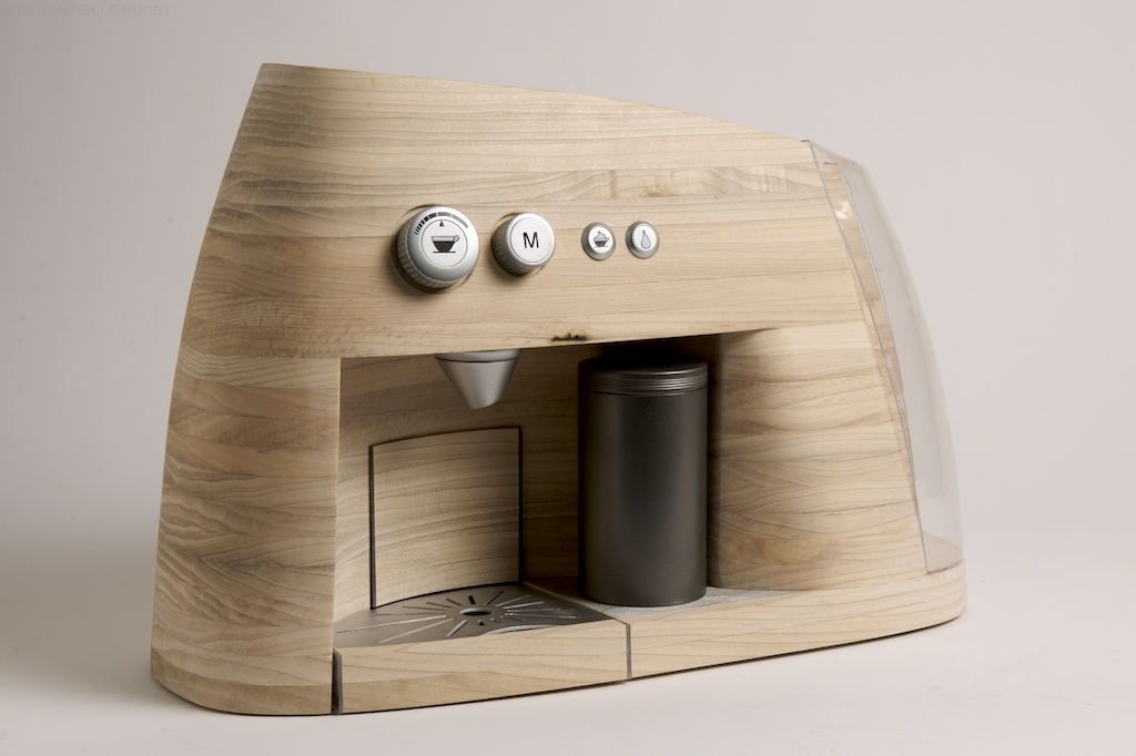 kaffeemaschine aus holz trink kaffee. Black Bedroom Furniture Sets. Home Design Ideas