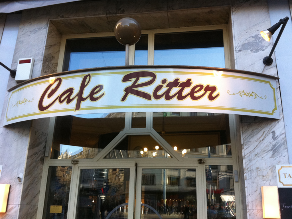 caf ritter in wien trink kaffee. Black Bedroom Furniture Sets. Home Design Ideas